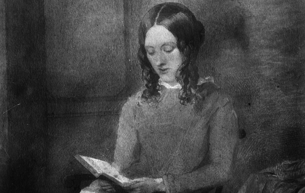 1851: English novelist and writer Charlotte Bronte (1816 - 1855). Her novel 'Vilette' is based on her experiences as a teacher in Brussels where she fell in love with a married man, Paul Heger. Watercolour by Paul Heger (Photo by Hulton Archive/Getty Images)