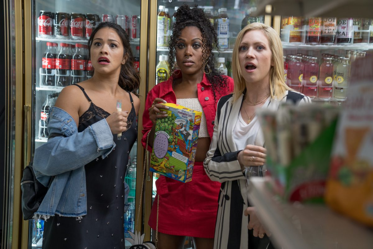 Gina Rodriguez, DeWanda Wise, and Brittany Snow in Netflix's Someone Great.