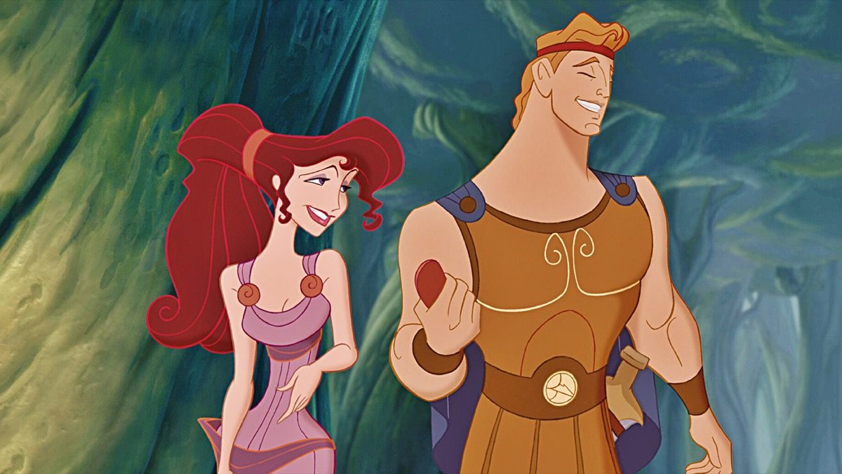 Disney's Hercules and Megara talking.