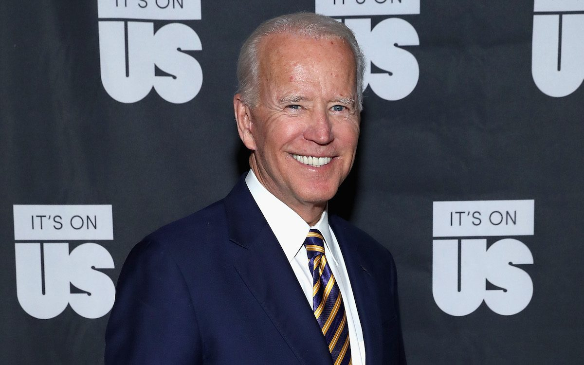 Joe Biden on the red carpet for his organization It's On Us.