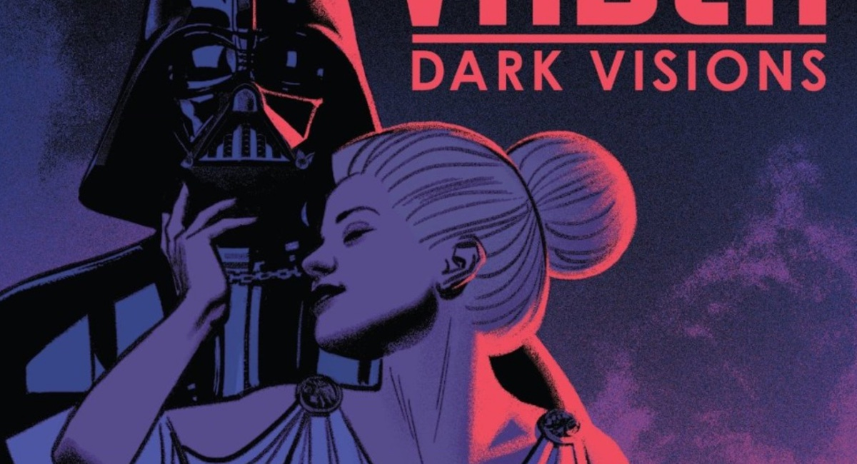 The cover for the latest Marvel Star Wars comic, Vader: Dark Visions.
