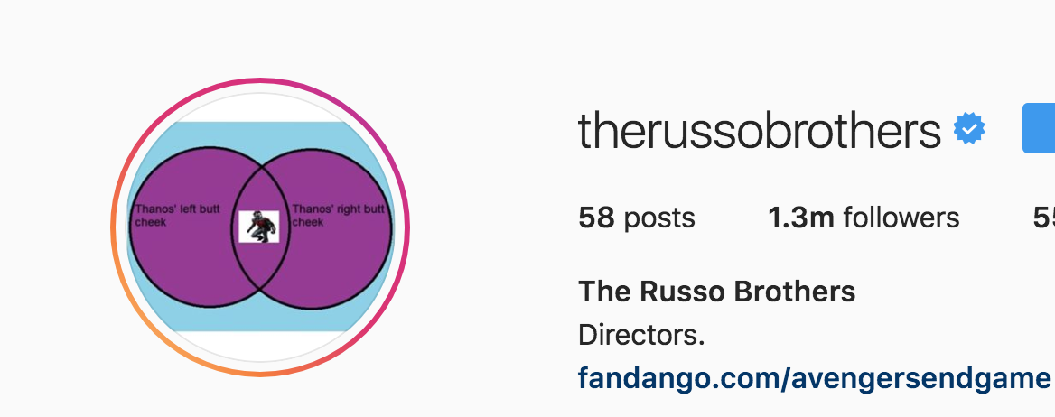 The Russo Brothers made their Instagram icon a tribute to one wild Thanos theory.