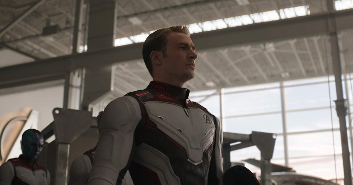 Chris Evans in Avengers- Endgame (2019) as Steve Rogers. Aka America's Ass