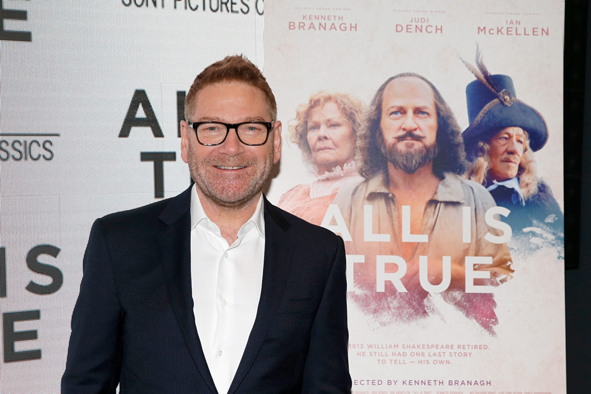 Kenneth Branagh at the premiere for All Is True