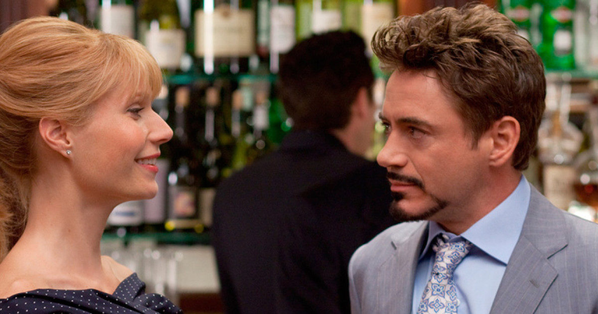 Pepper Potts and Tony Stark in Iron Man 2