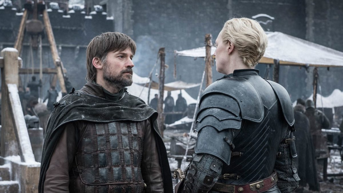 Gwendoline Christie and Nikolaj Coster-Waldau in Game of Thrones