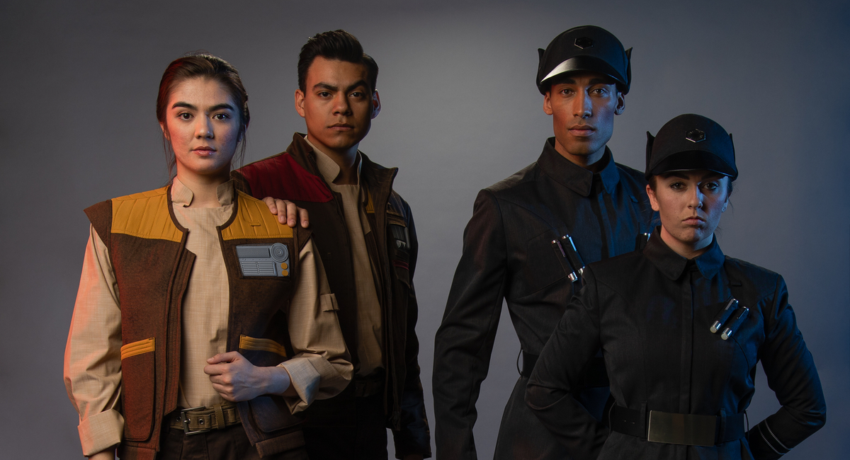 The Resistance and the First Order are ready to fight at Star Wars's Galaxy's Edge.