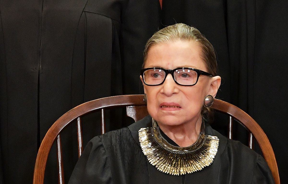 Ruth Bader Ginsburg does not look like she approves of any of this.