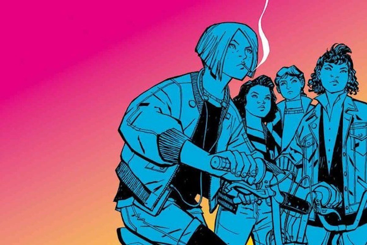 Cover of Paper Girls comic book.