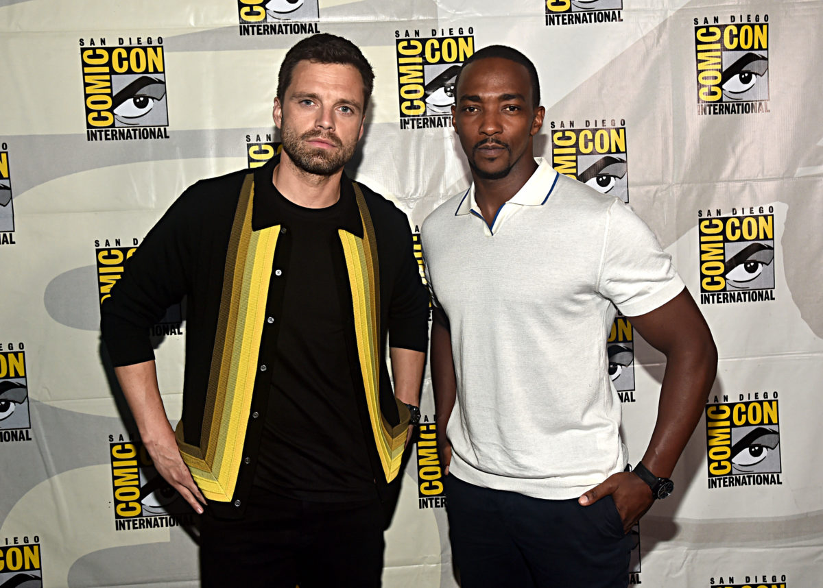 Anthony Mackie and Sebastian Stan at SDCC