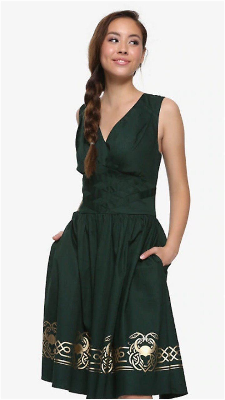 This Loki dress from Her Universe is totally swoon worthy.