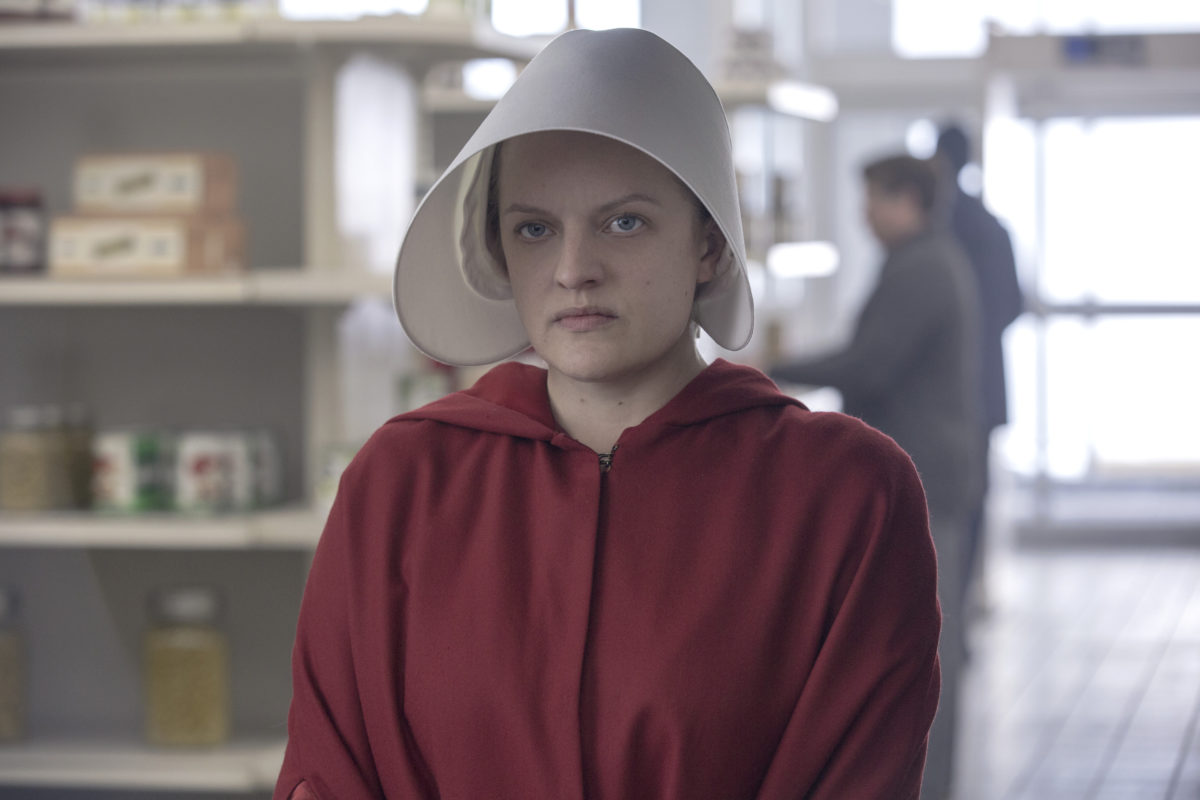 Elisabeth Moss as June in Hulu's The Handmaid's Tale