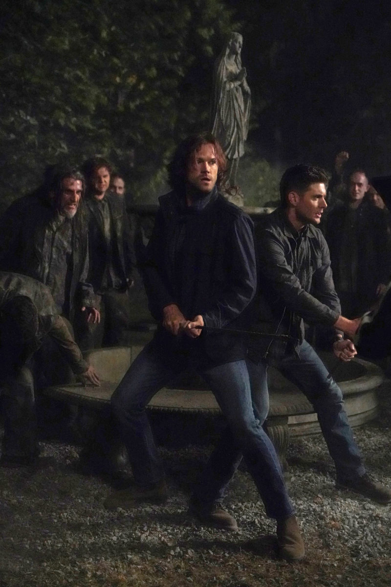 the winchesters face off against hell zombies together