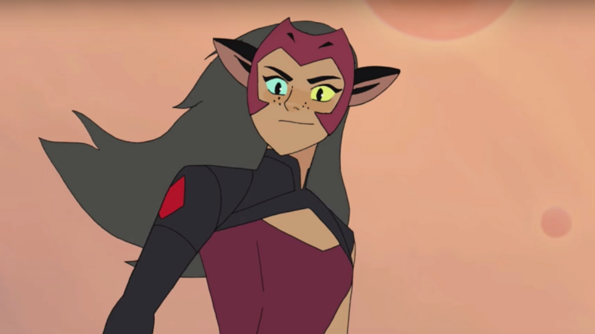 Catra on She-Ra in her new costue