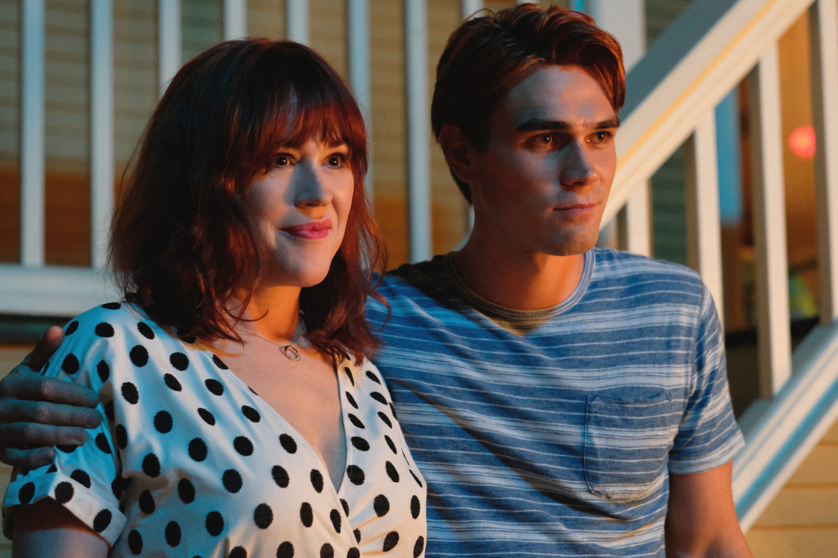 Molly Ringwald and KJ Apa in Riverdale