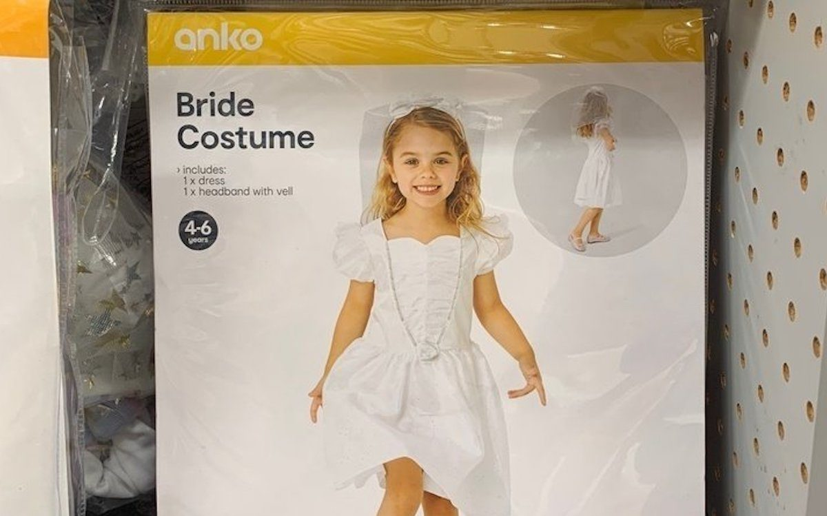 Hallowwen costume package for a young girl bride.