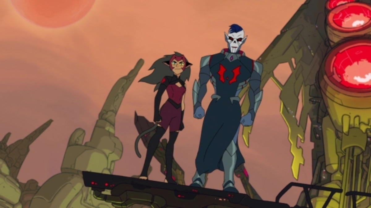 Catra and Hordak are two mean sad sacks