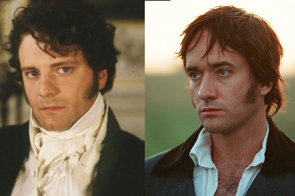 Colin Firth and Matthew MacFadyen as Mr. Darcy