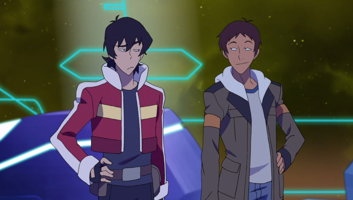 Keith and Lance on Voltron