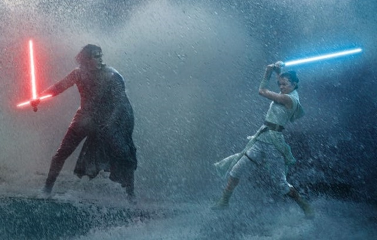 Kylo Ren and Rey fight in Star Wars: The Rise of Skywalker