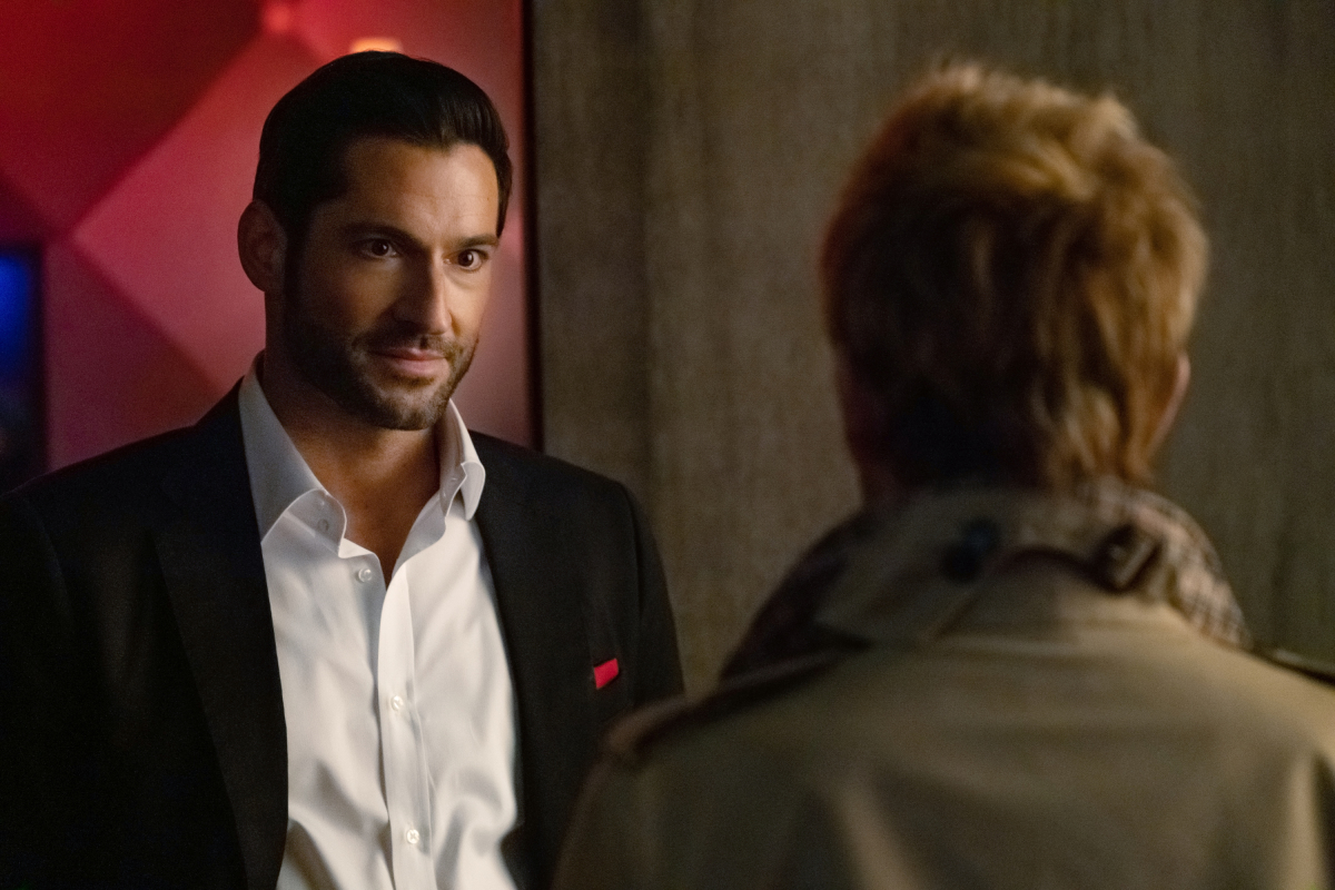 """The Flash -- """"Crisis on Infinite Earths: Part Three"""" -- Image Number: FLA609c_0221b2.jpg -- Pictured: Tom Ellis as Lucifer -- Photo: Katie Yu/The CW -- © 2019 The CW Network, LLC. All Rights Reserved."""