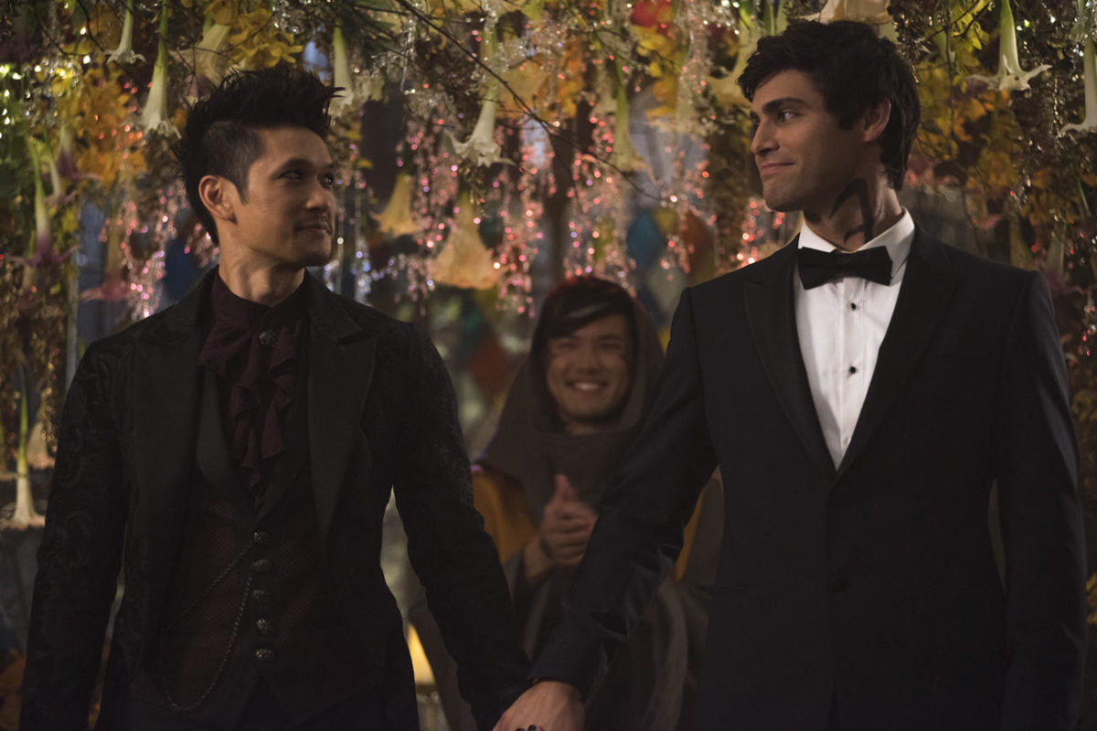 Magnus and Alec on Shadowhunters