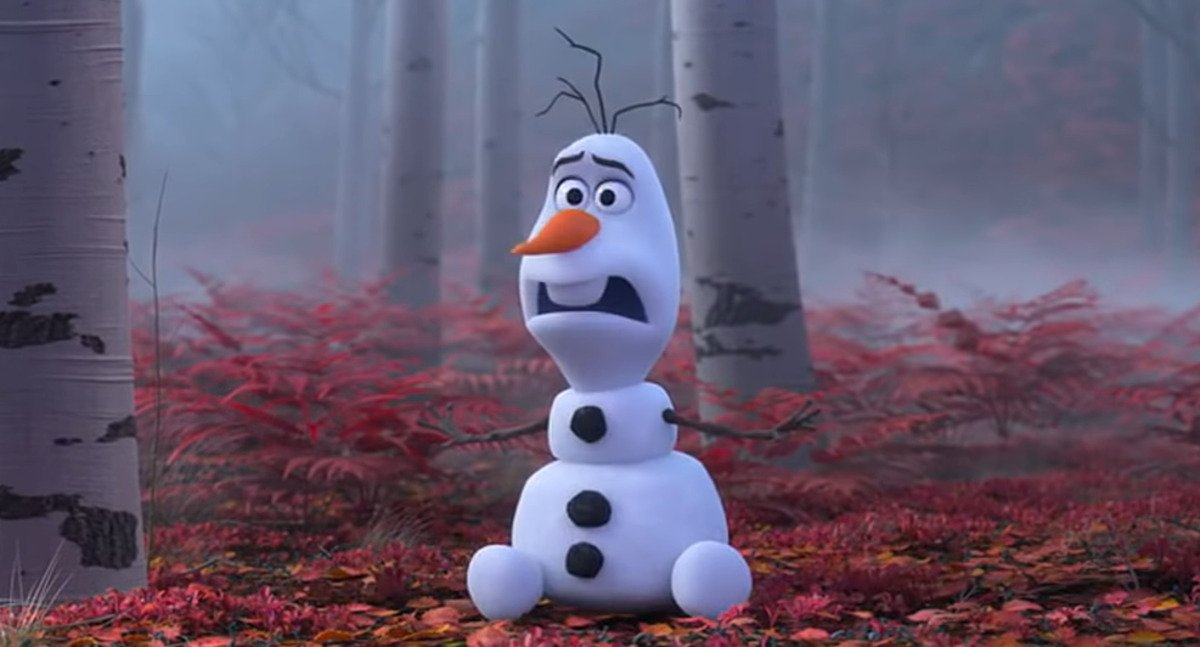 olaf has a moment in frozen 2