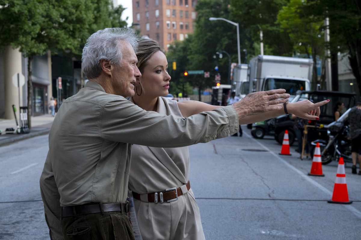 Clint Eastwood directs Olivia Wilde behind the scenes on Richard Jewell.