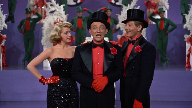the minstrel nuber in white christmas with clooney, crosby and kaye