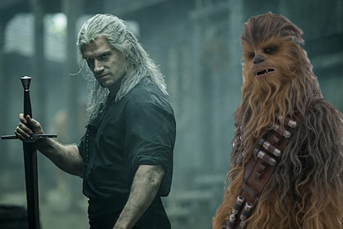 Geralt in the Witcher and Chewbacca