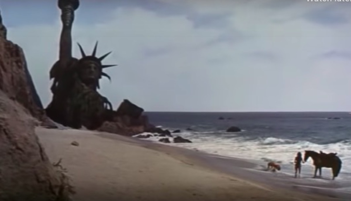 The statue of liberty at the Planet of the Apes ending.