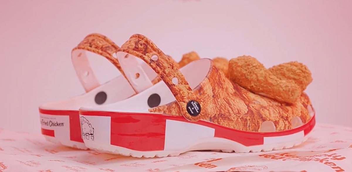 crocs made out of Kentucky fried chicken