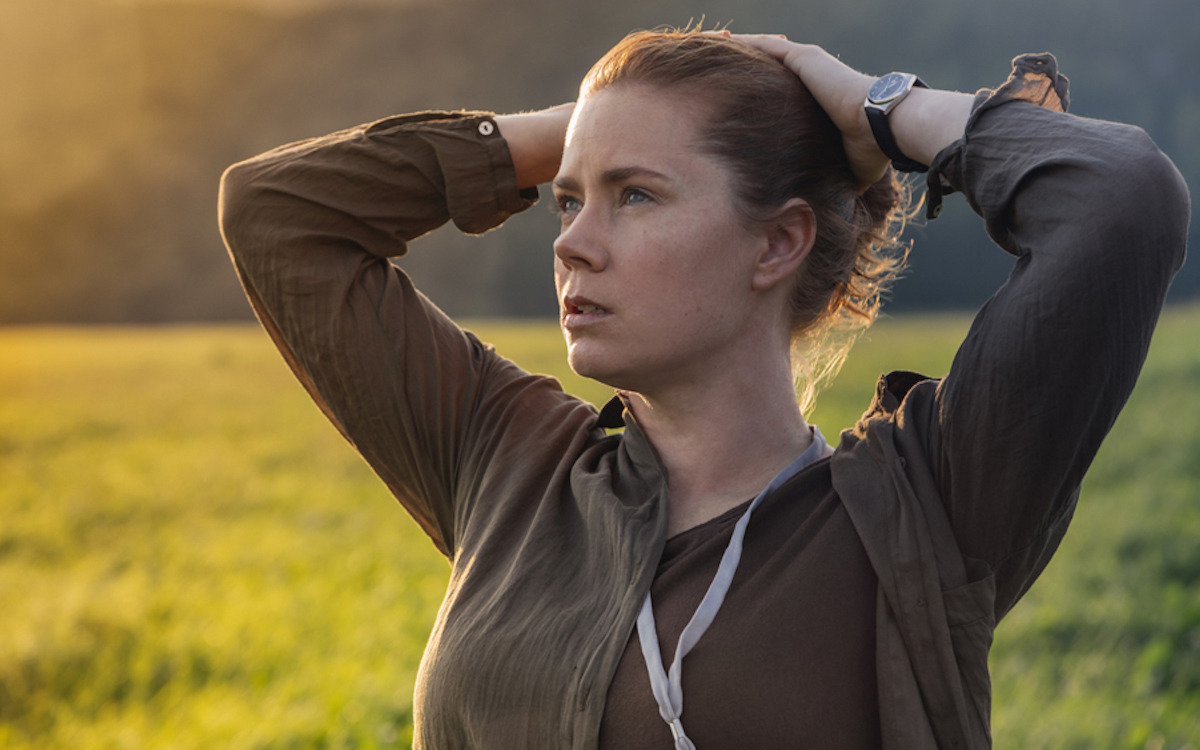 Amy Adams in Arrival looking exhausted.