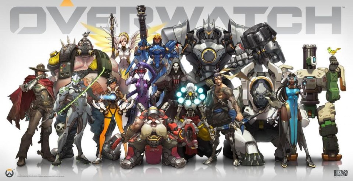 The characters of Blizzard's Overwatch.