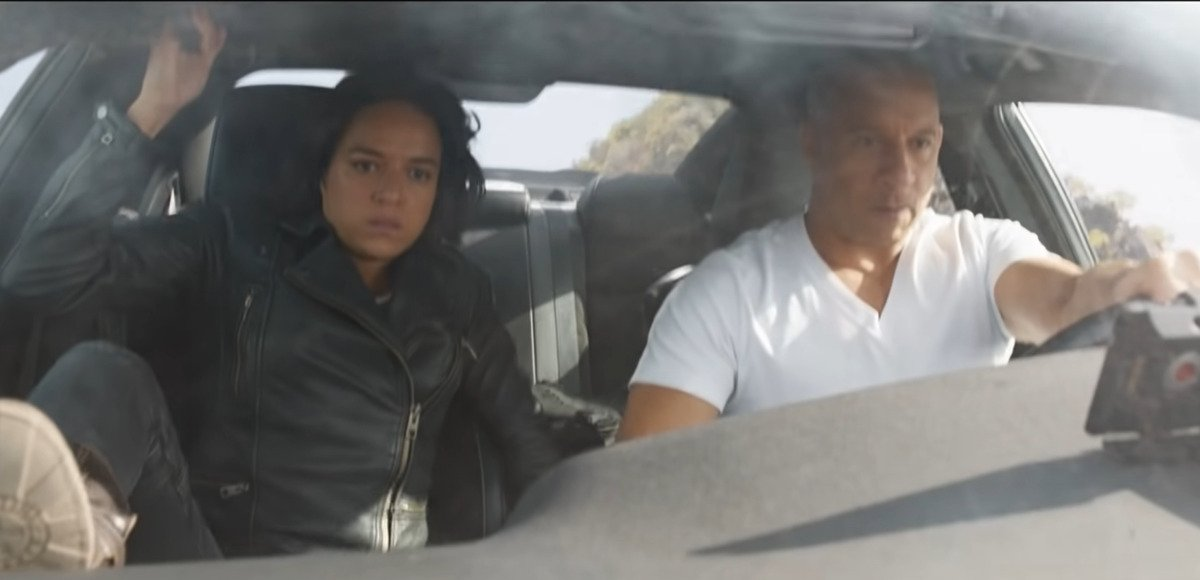 vin diesel drives off a cliff in fast 9