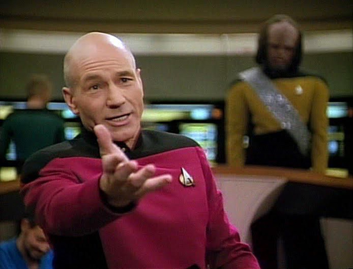 Captain Picard recites Shakespeare in Star Trek: The Next Generation.