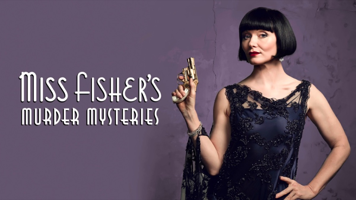 Miss Fisher's Murder Mysteries title card.
