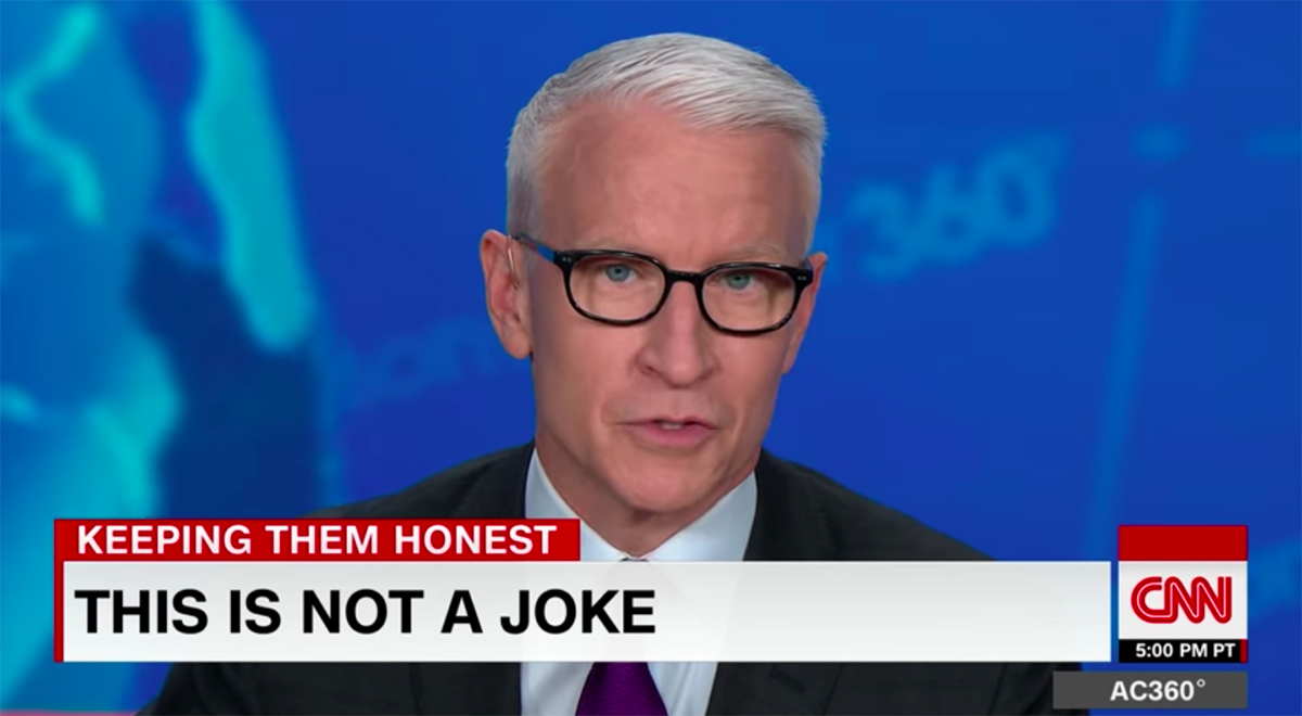 Anderson Cooper on White House dishonesty