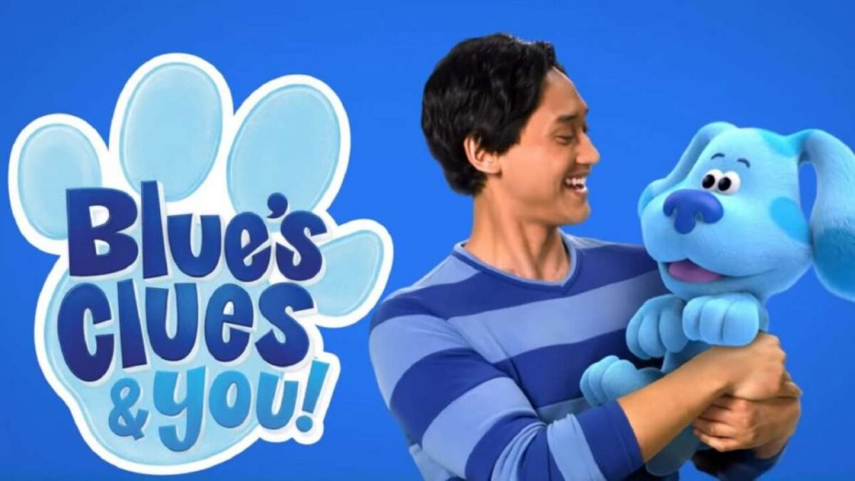 Josh Dela Cruz and Blue in Blue's Clues