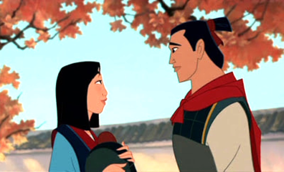 Mulan and Shang in Disney's Mulan.