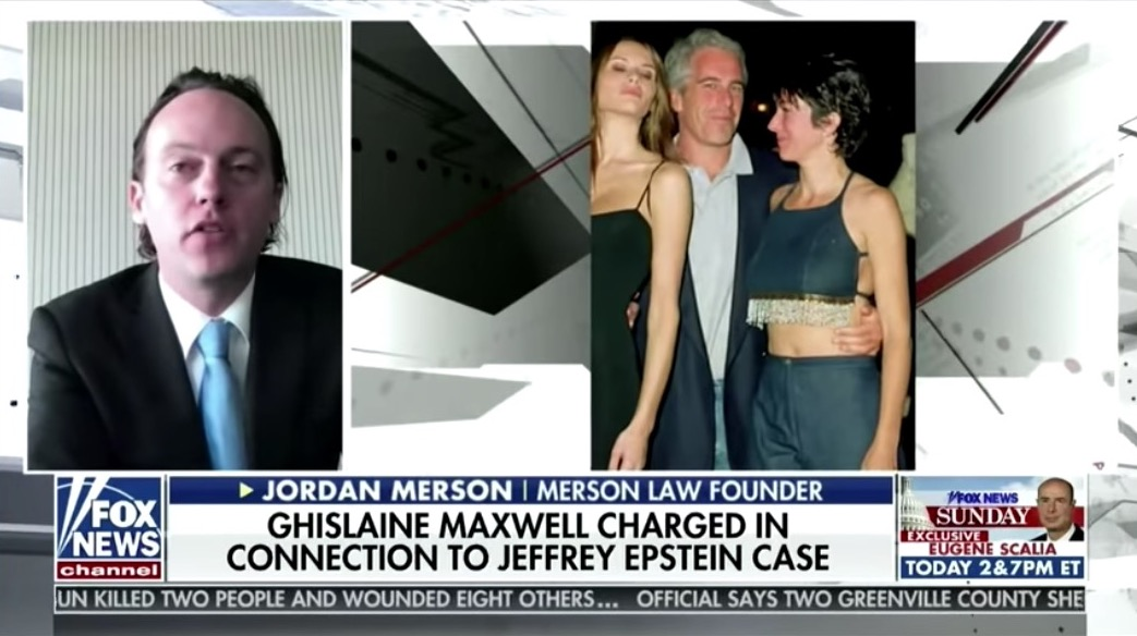 Fox News shows a picture of Epstein, Maxwell, and Melania Trump, cropping out Donald Trump.