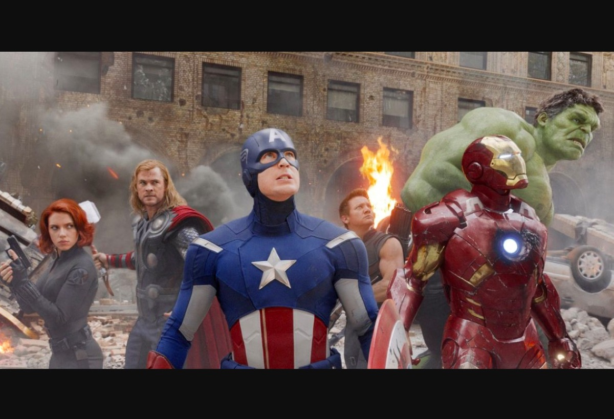 The Avengers in the Battle of New York.