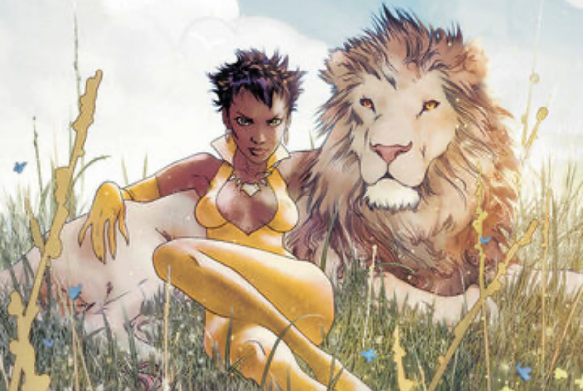 Vixen serving face and body and lion