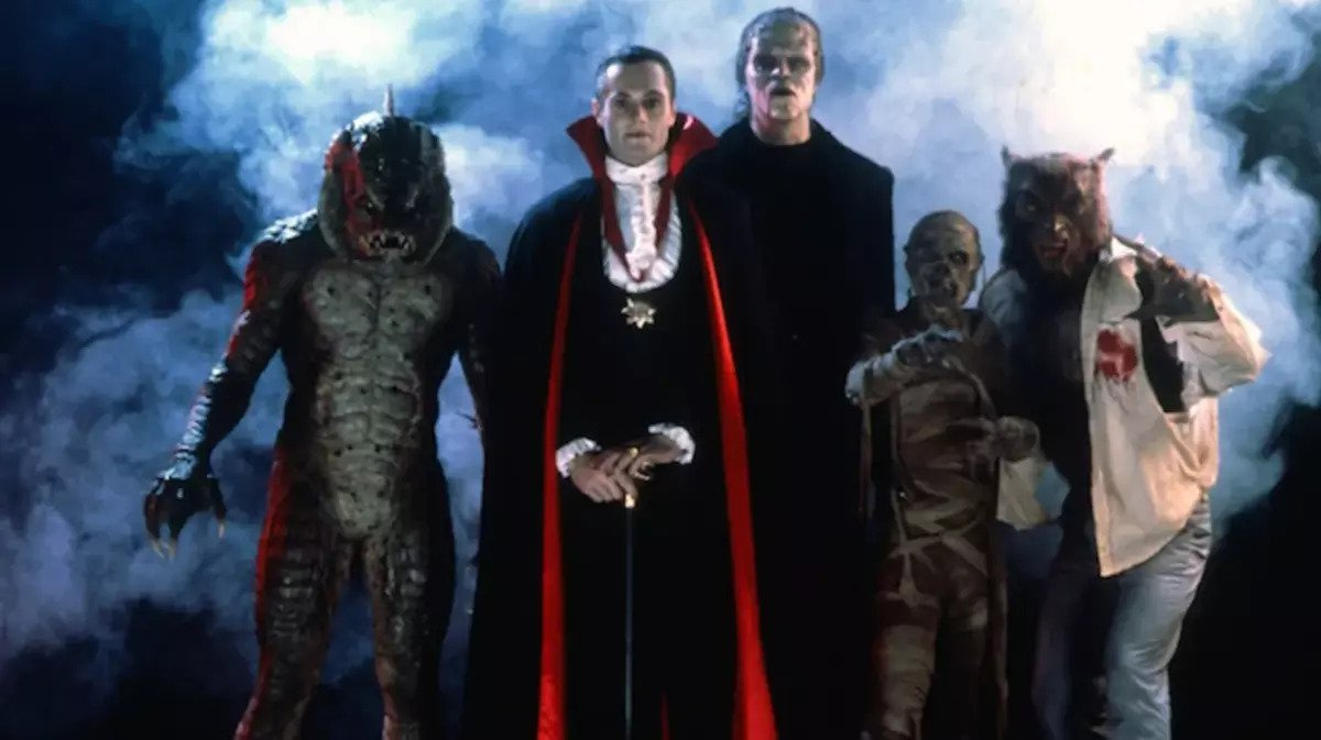 dracula and various monseters in the monster squad