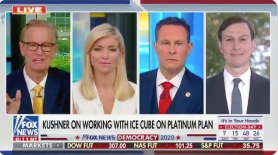 A panel of four white people talk about race on Fox News.