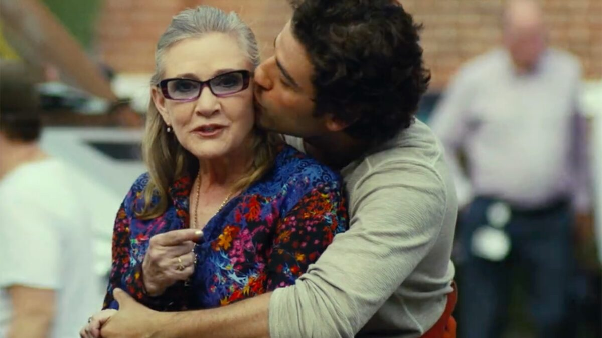 Carrie Fisher and Oscar Isaac Used To Dance on Set