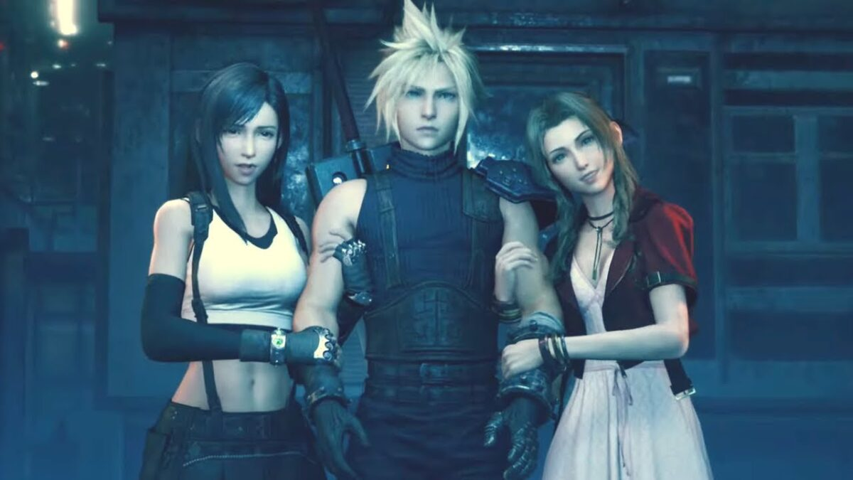 Cloud Aerith and Tifa together in FF7 remake