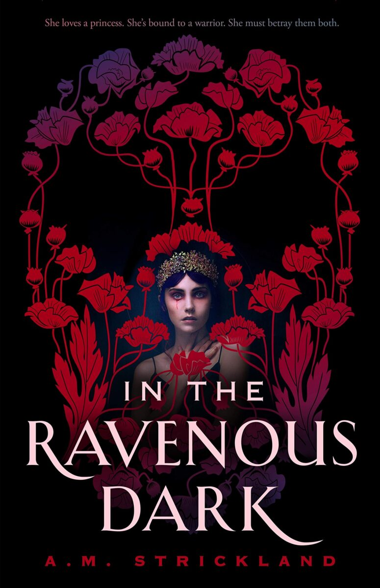 Book cover for In The Ravenous Dark by A.M. Strickland