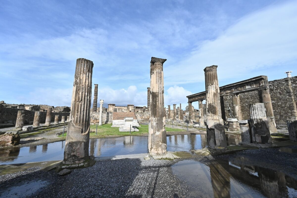 A photo shows a general view of the archaeological site of Pompeii, near Naples, on January 25, 2021. (Photo by Andreas SOLARO / AFP) (Photo by ANDREAS SOLARO/AFP via Getty Images)