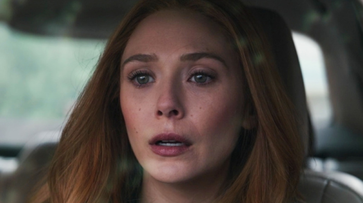 Wanda in her car after seeing Vision's body